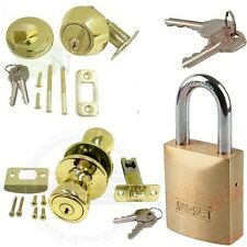 3 Entry Locks + 3 Deadbolts + 1 Padlock All Keyed Alike