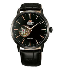 Orient FDB08002B Men's Black IP Semi Skeleton Automatic Watch