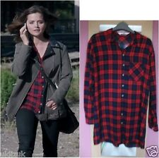 H&M Cosplay Red Check Tartan Shirt Blouse - Size 6