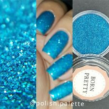 1Box Holographic Holo Laser Powder Glitter Nail Art Dust Decoration Blue #3