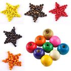 Charming Colorful Round Wood Spacer Loose Beads Charms 3.5 5 7 8 10 12 14 16 mm