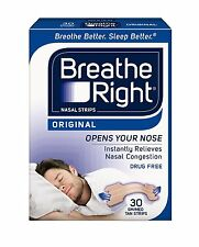 4 Pack Breathe Right Nasal Strips Original Tan Small/Medium 30 Each = 120 Strips