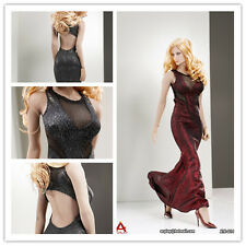 """ACPLAY 1/6 Scale Sexy Female Long Dress Evening For 12"""" Women Figure Body Red"""