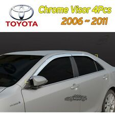 Chrome Window Vent Visors Rain Guard Sun Shield 4Pcs for 2006- 2011 Toyota Camry