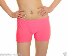 New Ladies Lycra Shorts UV Neon Hot Pants Dance Party Casual Club Pant SIZE 8-14