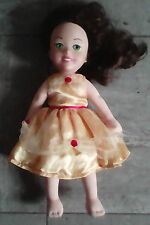 Belle-from Beauty and the Beast child vinyl-headed,soft-bodied used,labeled doll