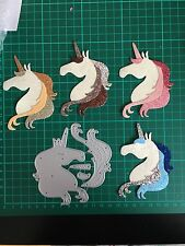 D077 10CM Unicorn Cutting Dies For Sizzix Xcut Spellbinders Etc. Machine