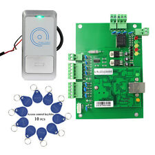 Wiegand TCP/IP Access Controller Panel+RFID 125KHz Card Reader+10pcs Keyfobs co