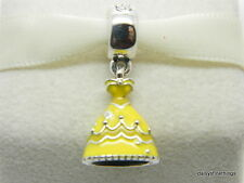 NEW! AUTHENTIC PANDORA CHARM DISNEY BELLES DRESS DANGLE #791576ENMX  P