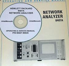 HP Hewlett Packard 8407A Network Analyzer, Manual, Ops, Service and Schematics