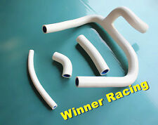 4PCS Silicone Radiator/Coolant/Water WHITE Y Hose HONDA CR250 CR250R 2002-2008