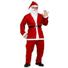 Mens Santa Claus Costume Father Christmas Fancy Dress Budget Outfit Suit Adult.