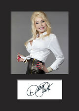 DOLLY PARTON #1 Signed Photo Print A5 Mounted Photo Print - FREE DELIVERY