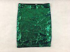 Señoras falda sirena lentejuelas verdes Iridiscente H&M Talla 6