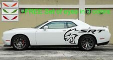 4pc HELLCAT SRT +4FREE Decal +EYES Side Vinyl Fender Dodge Charger Challenger