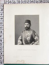 c1840 ANTIQUE PRINT ~ AHMED MUKHTAR PASHA