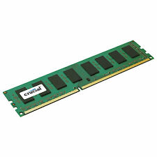 Crucial 8GB DDR3 1600 MHz PC3-12800 CL11 240pin Non ECC Desktop Memory RAM UDIMM