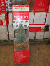 6' Foot Douglas Fir Prelit Clear White Lights Artificial Christmas Tree w/ Stand
