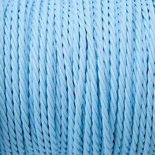 BABY Blue Twisted Intrecciato Tessuto Cavo MEX 0.5 mm Per Illuminazione