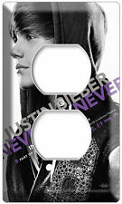 JUSTIN BIEBER NEVER SAY 3D MOVIE POSTER DVD ELECTRICAL OUTLET COVER WALL PLATE