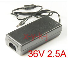 AC 100V-240V Adapter DC 36V 2.5A Switching power supply Charger 2500mA DC 5.5mm