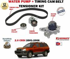 FOR HYUNDAI SANTA FE 2.0 CRDI VGT 2001-2006 TIMING CAM BELT KIT + WATER PUMP SET