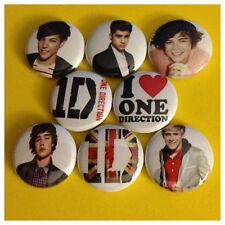 ONE DIRECTION 1in buttons badges 1D HARRY LIAM ZAYN NIALL LOUIS UP ALL NIGHT