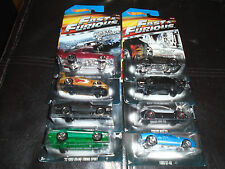2014 HOT WHEELS FAST AND FURIOUS COMPLETE SET OF 8 CARS HARD TO FIND FREE SHIP!