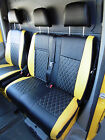 VW TRANSPORTER VAN 2006 SEAT COVERS BENTLEY DIAMOND YELLOW - FULL LEATHERETTE
