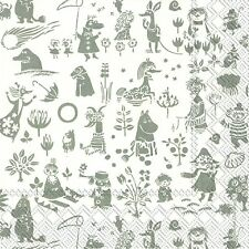 Tove Moomintroll paper table 33cm square lunch napkins 20 in pack