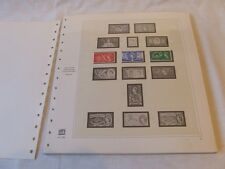 SAFE DUAL GREAT BRITAIN HINGELESS STAMP ALBUM LEAVES 1953-70 & MNH STAMPS