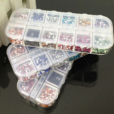 Rhinestones Nail Art 3600pcs/Case Assorted Designs for Acrylic Tips UV Gel Deco