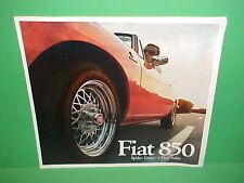 1968 FIAT 850 SPIDER CONVERTIBLE COUPE SEDAN DELUXE PRESTIGE BROCHURE CATALOG 68