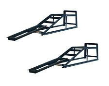 Pair of 2 Tone Car Ramps with Ramp Extensions Mates Low Entry Car Van CR2RM1