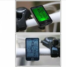 JSG ACCESSORI ® Wireless Display LCD Impermeabile CICLO BICI BICICLETTA COMPUTER ODOMETER S