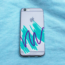 Abstract 90's Sketch Drawing Clear iPhone Case - iPhone 5 5S 6 6S Plus Case