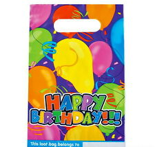 48 HAPPY BIRTHDAY PLASTIC PARTY LOOT GOODY BAGS TREAT BAG FAST FREE SHIPPING