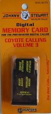 JOHNNY STEWART COYOTE CALLING VOLUME 3 PREYMASTER MEMORY CARD PM-3 & PM-4 NEW