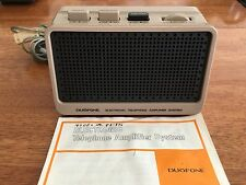 Vintage Radio Shack Duofone Telephone Amplifier Model 43-276 has not been tested