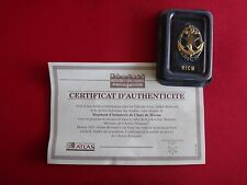 French Military RICM Insignia, Arthus-Bertrand Certificate Of Authenticity + Box