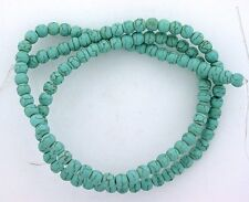 4mm Round Blue Color Magnesite Turquoise Bead Gemstone 16 Inch Strand MB39
