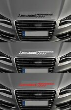 Mitsubishi rendimiento cheques-Bonnet-Coche Decal Sticker Adhesivo - 600mm de largo