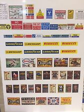 1/24 diorama garage / Retro signs posters safety signs combination  (sheet0036)