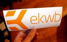 "7"" Orange EKWB EK Water Blocks Vinyl Decal Sticker Computer Pc Laptop Case Mod"