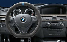 BMW OEM M Performance Steering Wheel Alcantara Blue Strip E90 E91 E92 E93 M3 E82