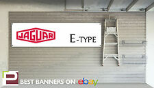 Jaguar E-Type Workshop Garage Banner