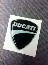 1 Adesivo Stickers New DUCATI Black 3D resinato 6 cm.