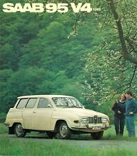 Saab 95 V4 Estate 1968-69 French Market Foldout Sales Brochure