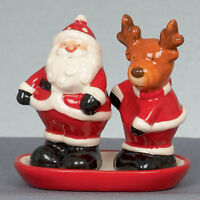 Christmas Santa & Rudolph Salt & Pepper Cruet Set  NEW  22522