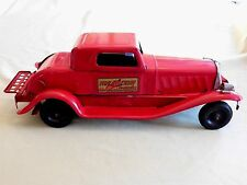 "RARE 1930's GIRARD PRESSED STEEL ""FIRE CHIEF SIREN COUPE""; Excellent Condition"
